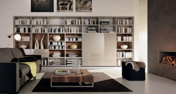 15 ideas para decorar tu sala con libreros for Library living room ideas