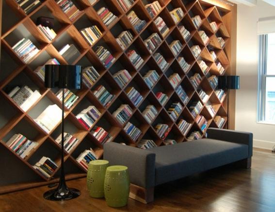 15 ideas para decorar tu sala con libreros for Hotel meuble moderno laveno