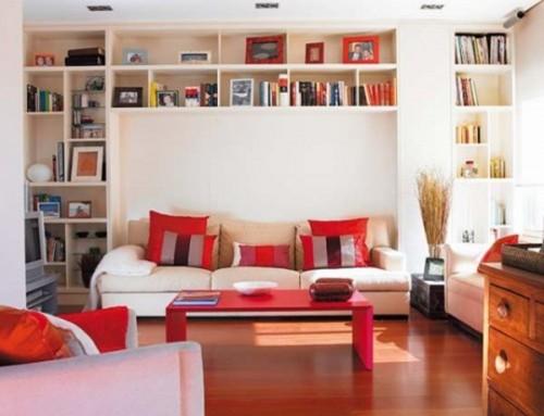 15 ideas para decorar tu sala con libreros - Estanterias para salon comedor ...