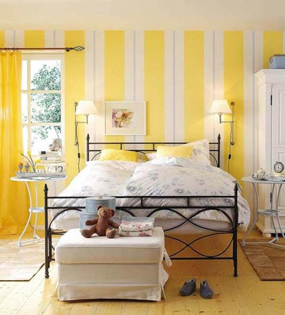 Decorar dormitorios con paredes a rayas - Dormitorios pintados a rayas ...