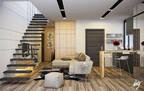 18 estupendos dise os de salas modernas for Salas con escaleras