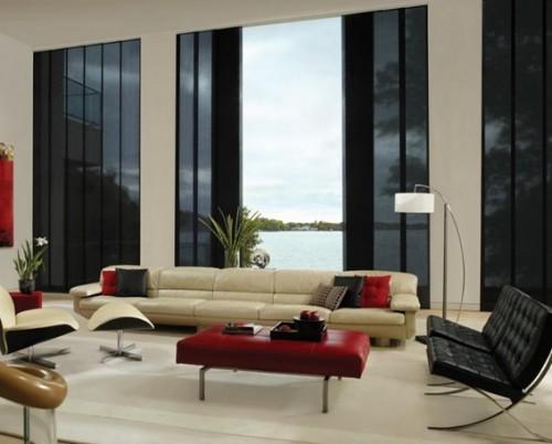 15 adorables salas decoradas con sofás modernos
