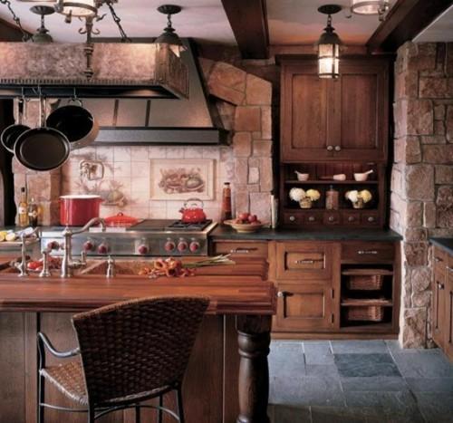 diseño cocina rústica