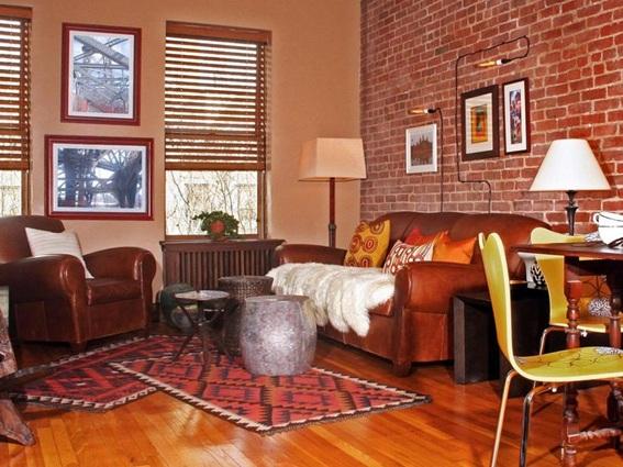 18 salas con ladrillos a la vista decoradas - Ladrillos de colores ...