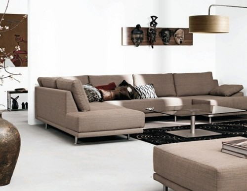 15 adorables salas decoradas con sof s modernos for Salas modernas precios