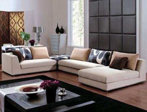 15 adorables salas decoradas con sof s modernos for Sofas de sala modernos