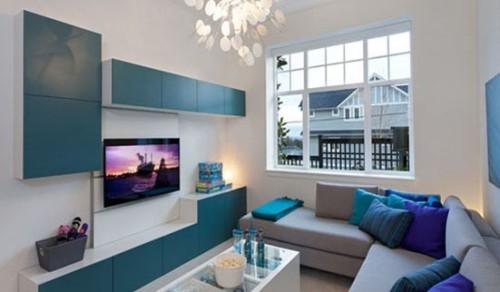 15 adorables salas decoradas con sof s modernos - Chimeneas star ...