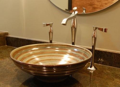 18 dise os de lavabos para el cuarto de ba o for Lavamanos empotrados