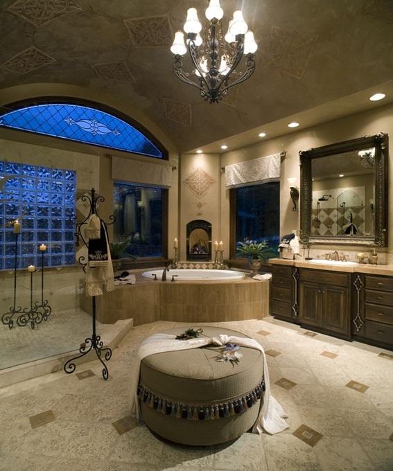 15 lindos e impresionantes ba os de lujo for Biggest home bathroom in the world
