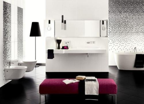15 lindos e impresionantes ba os de lujo for Salle bain noire et blanche