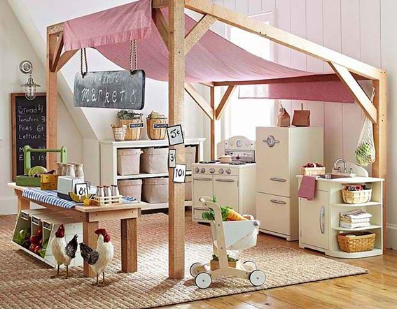 15 hermosos dise os de cuartos de juegos para ni os - Ideas para organizar juguetes ninos ...