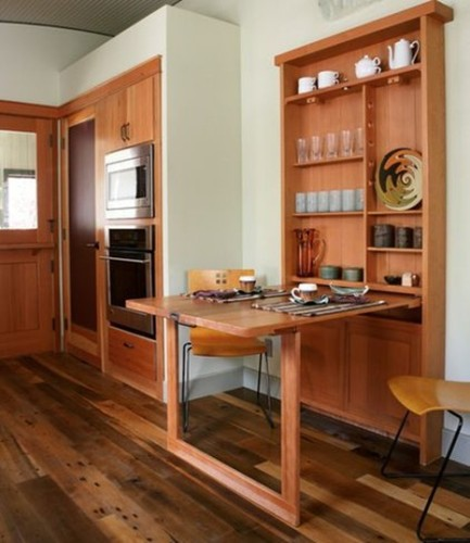 15 dise os de comedor y cocina juntos para espacios peque os for Comedor de diario