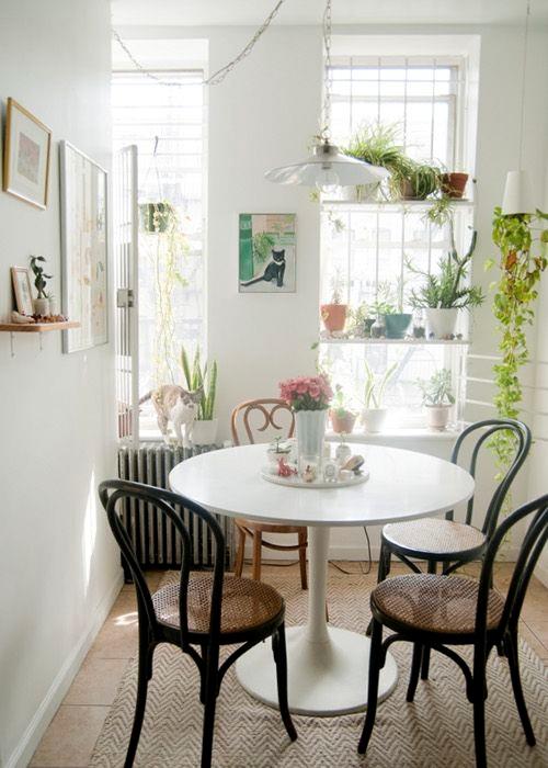 15 dise os de comedor y cocina juntos para espacios peque os - Comedores bonitos y modernos ...