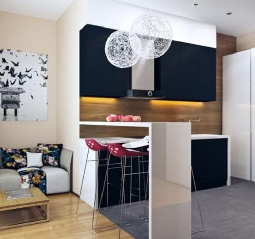 15 dise os de comedor y cocina juntos para espacios peque os for Sala cocina y comedor en un solo ambiente pequeno
