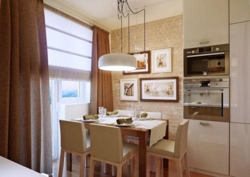 15 dise os de comedor y cocina juntos para espacios peque os for Comedor de cocina esquinero