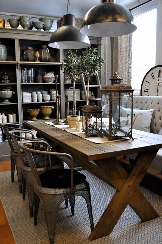 15 ideas de comedores decorados estilo r stico - Como decorar una mesa de comedor ...