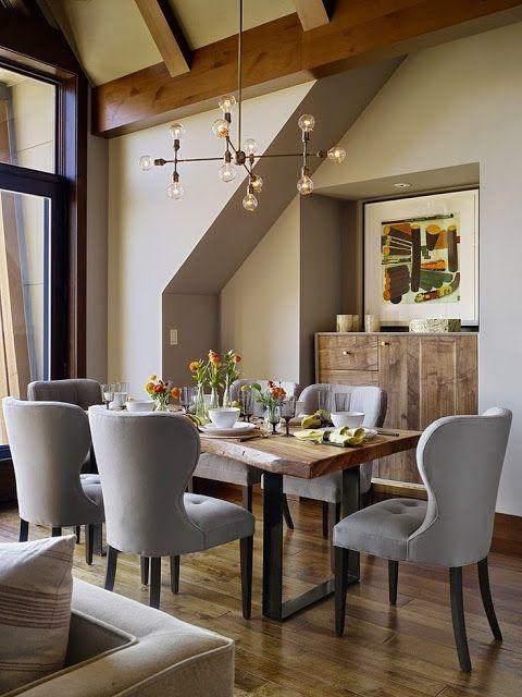 15 ideas de comedores decorados estilo r stico for Imagenes de comedores