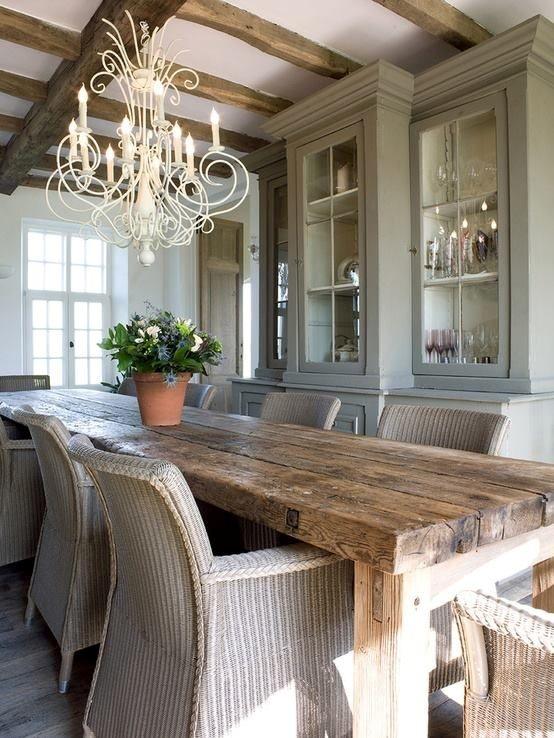 15 ideas de comedores decorados estilo r stico - Decorar paredes comedor ...