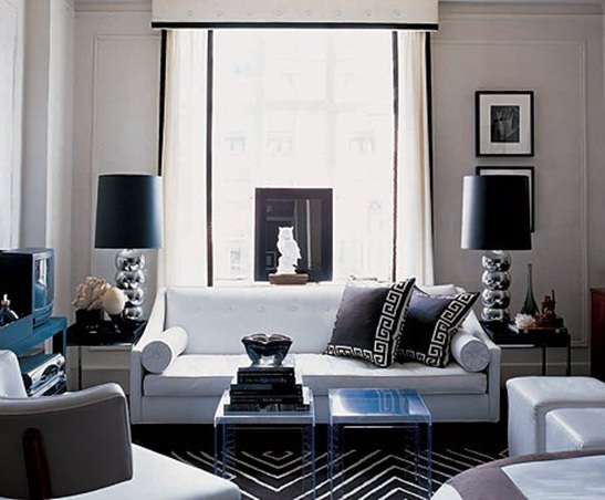 blue black and white living room 22 dise 241 os de salas en color gris para inspirarte 25964