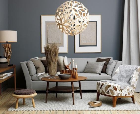 22 dise os de salas en color gris para inspirarte - Sofa gris como pintar las paredes ...