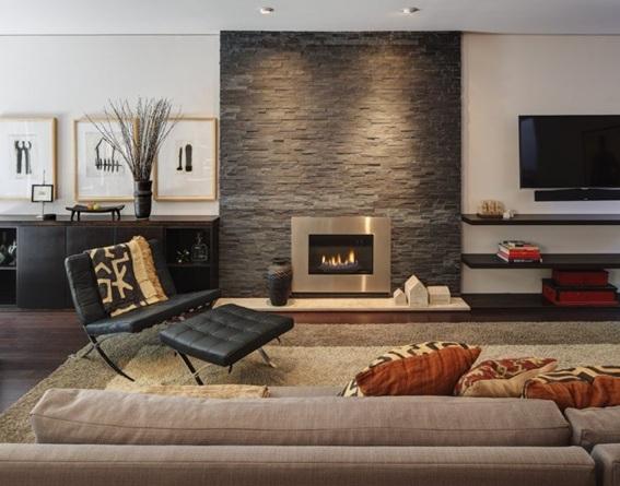 22 acogedoras salas con paredes de piedra - Pared de piedra ...
