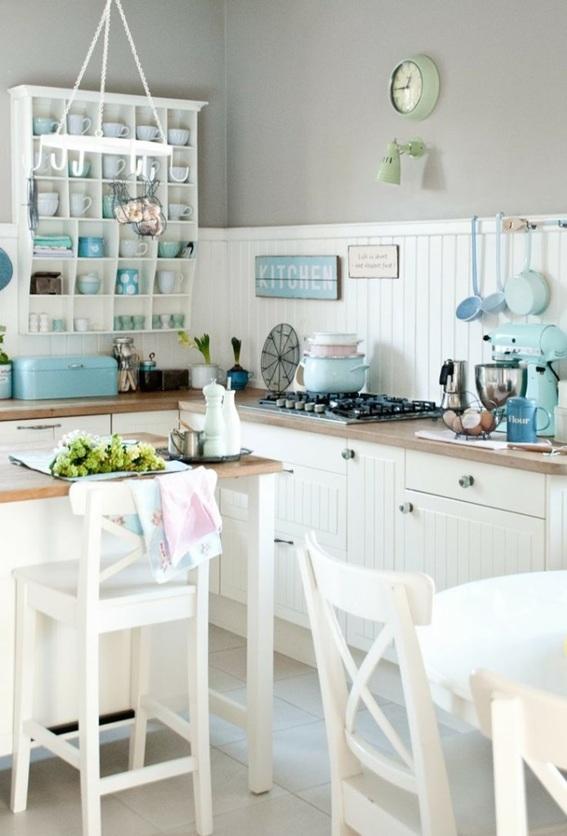 18 encantadoras cocinas decoradas en color pastel - Objetos decoracion cocina ...