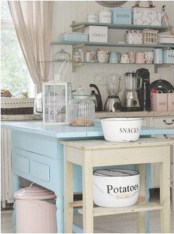 18 Encantadoras Cocinas Decoradas en Color Pastel