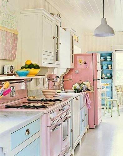 foto cocina color pastel
