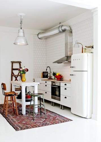 diseño pequeña cocina isla