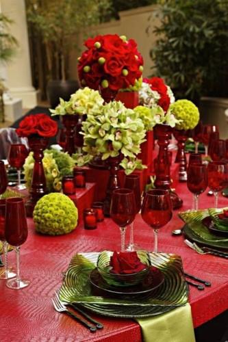 navidad rojo y verde