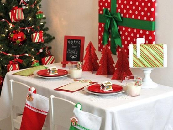 15 ideas navide as para decorar tu hogar en rojo y verde Mesas para navidad casa
