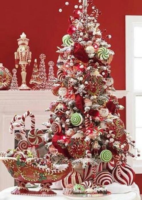 5 rboles de navidad decorados con dulces - Arboles de navidad decorados 2017 ...