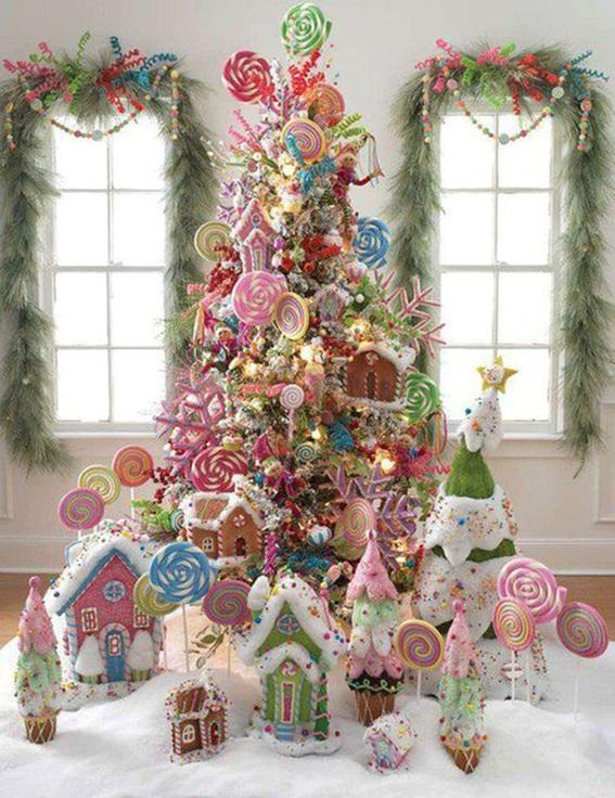 5 rboles de navidad decorados con dulces - Fotos arboles navidad decorados ...