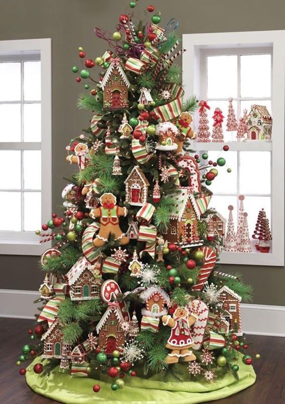 5 rboles de navidad decorados con dulces - Adornos para arbol navidad ...