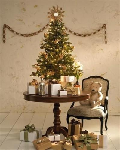 15 rboles de navidad peque os decorados - Arbol navidad pequeno ...