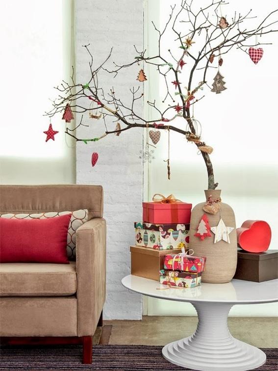 15 rboles de navidad peque os decorados - Arboles secos decorados ...