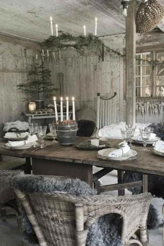 decorar navidad gris