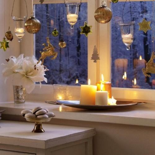 decorar ventana navidad