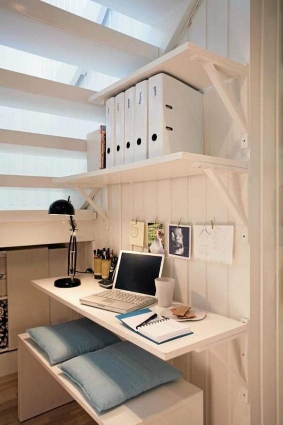 15 ideas de oficinas bajo la escalera On escritorio debajo de la escalera