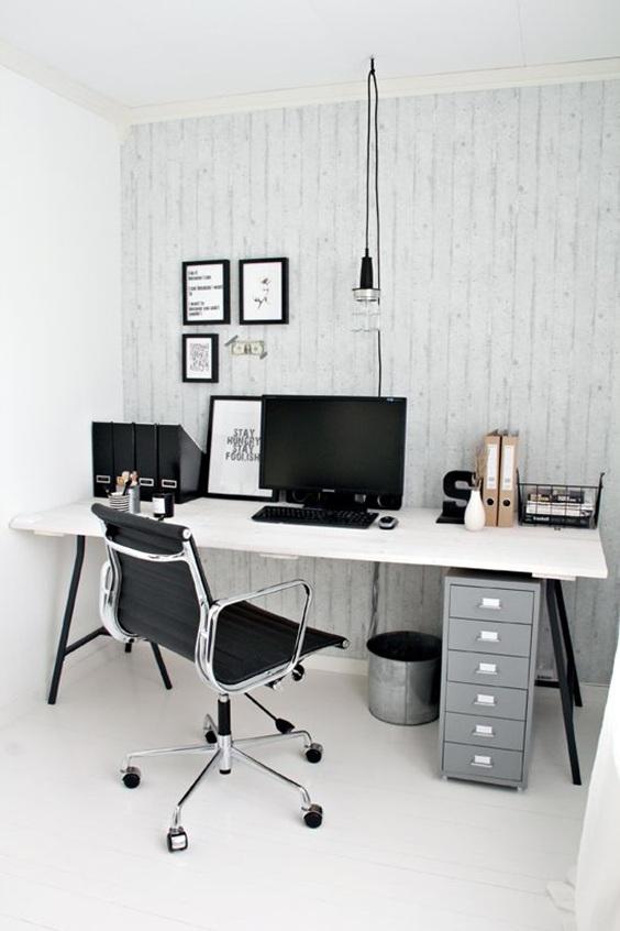 15 dise os de oficinas modernas para el hogar for Oficina moderna en casa