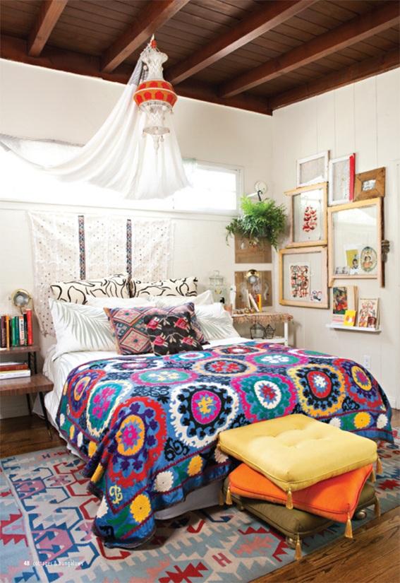 12 ideas de dormitorios estilo bohemio for Decoracion bohemia vintage