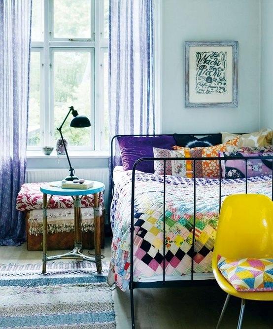 Baños Estilo Bohemio:Estas fueron algunas ideas y fotos de dormitorios estilo bohemio