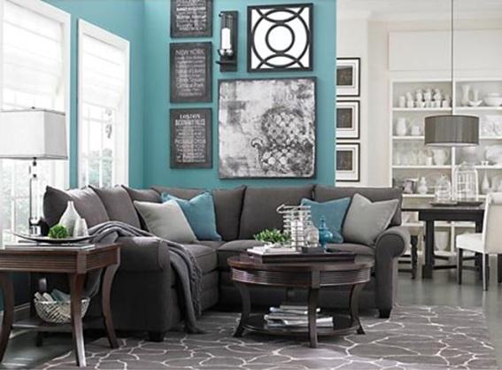 14 salas decoradas color turquesa for Decoracion de sofas