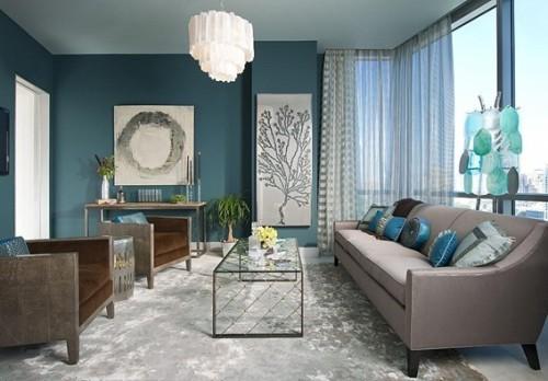 diseño sala turquesa