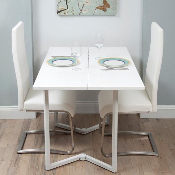 12 dise os cocinas con mesas plegables para ahorrar espacio - Mesas abatibles para cocina ...