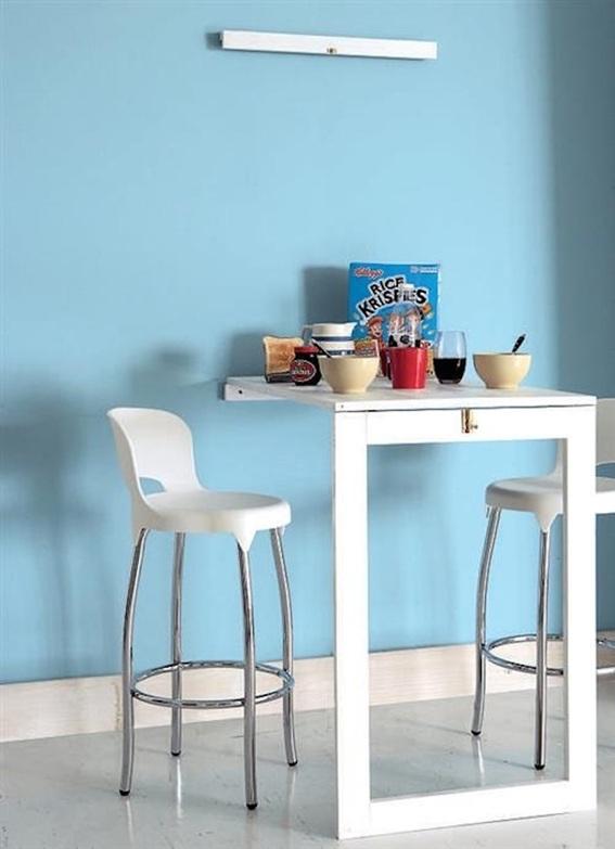 12 dise os cocinas con mesas plegables para ahorrar espacio for Diseno de mesas plegables