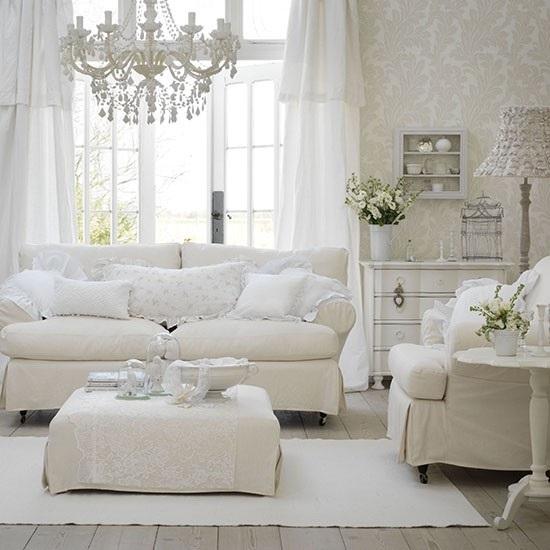 Ideas para decorar tu sala en tonos neutros for Muebles de sala blancos