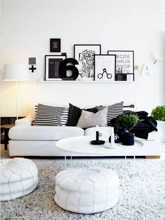 Ideas para decorar tu sala en tonos neutros for Comedor negro con gris