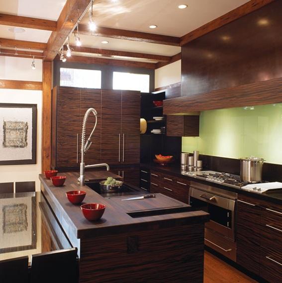 15 Diseños de Cocinas en Café Oscuro