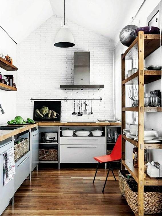 20 dise os de cocinas estilo industrial for Sartenes industriales